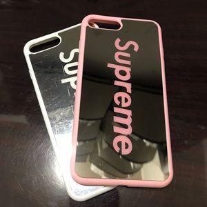 2 iPhone 7 plus HD mirror case back hard case